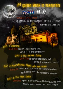 Gothic week poster