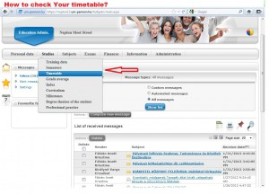 How to check Your timetable?
