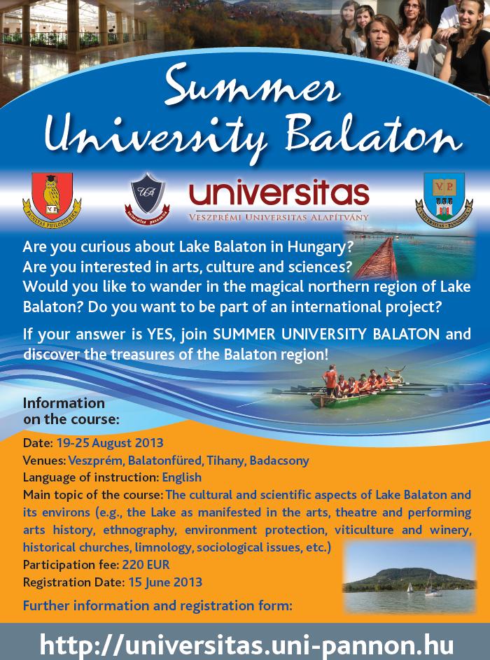 summer university balaton