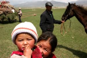 Kazak gyerekek