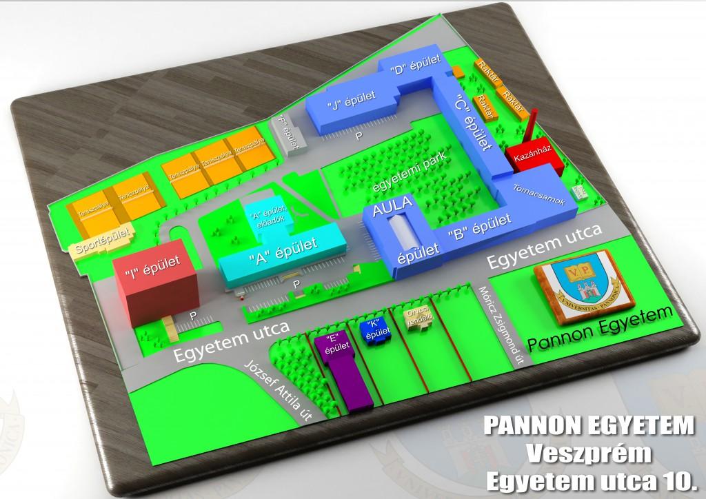Az Egyetem utcai kampusz térképe