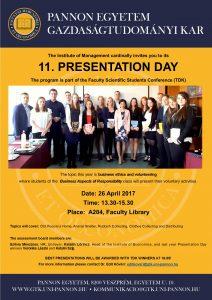 11. Presentation Day