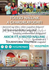 Gyakornoki felhívás - Tourinform Veszprém