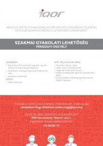 Szakmai gyakorlati lehetőség pénzügyi területen Szombathelyen