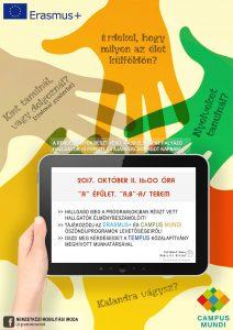 Erasmus és Campus Mundi információs délután