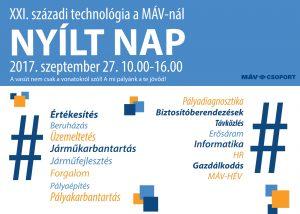 """MÁV nyílt nap - """"XXI. századi technológia a MÁV-nál"""""""