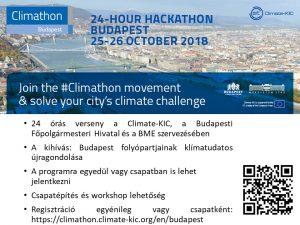 CLIMATHON 2018 - Versenyezz klímabarát kreativitásból, együttműködésből, szellemi állóképességből!